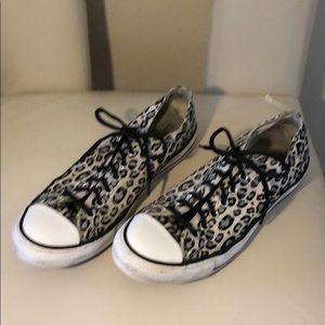 💜Size 11 Women's/ 9 Men's Leopard Converse💜